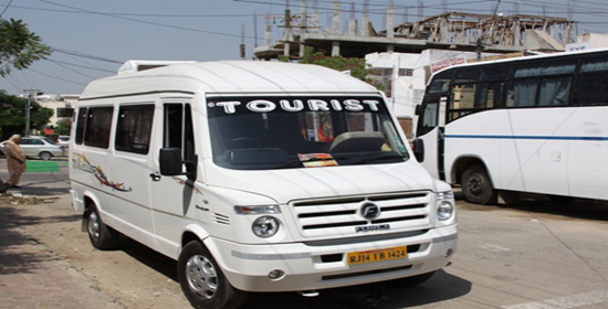tempo traveller on rent in rajasthan