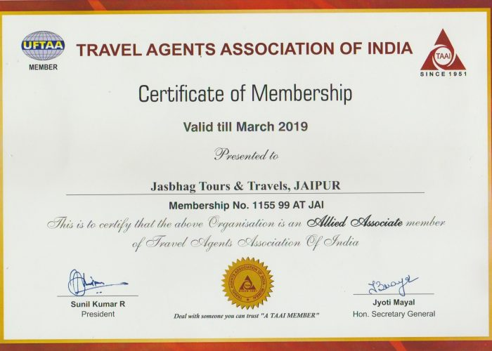 taai certified tour and travel operator